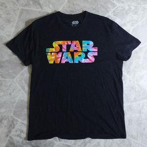2/$20 STAR WARS tye dye black top